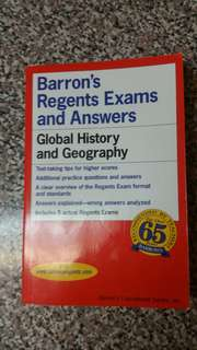 Barron Regents Exams and Answers Global History and Geography Book
