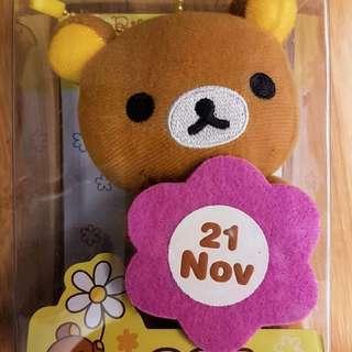 全新 鬆弛熊 生日 花 公仔 11月21