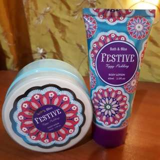 Festive Body Lotion and Foot Scrub