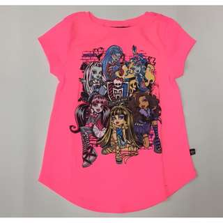 Neon Pink Monster High Character Tee