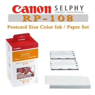 CHEAPEST CANON SELPHY RP-108 3 Packs (108 Sheet in a box) SELPHY Photo Paper CP1200 CP910