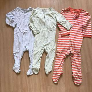 Little Bundles Sleepsuits 6-12 months