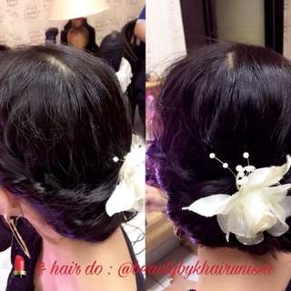 Simple hair do only (without accessories)