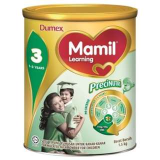 Dumex Mamil Learning 3 (1-3years) 1.5kg tin