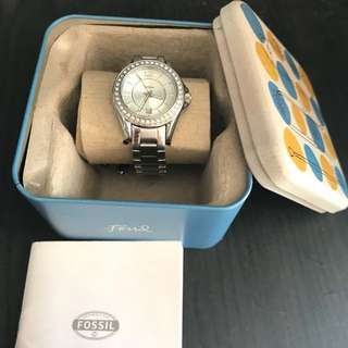 Fossil Watch/Jam Silver