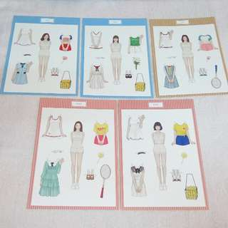 Gfriend LOL Paper Doll Photocard Official