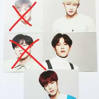 Monsta X Montories Postcard (Wonho, Jooheon, Minhyuk)