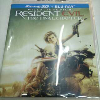 Resident evil the final chapter Blu-ray 3D+ blu-ray