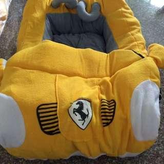 Yellow Ferrari Model Cushion Bed