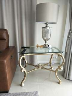 luxury queen anne gold side table