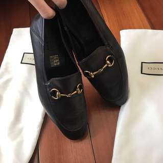 Gucci loafers/Brixton leather Horsebit loafer