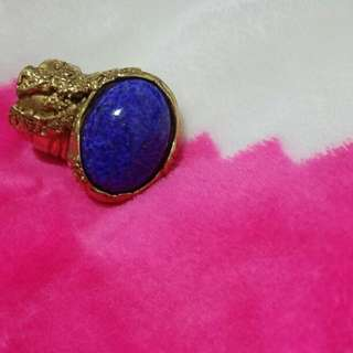 YSL arty ring in royal blue
