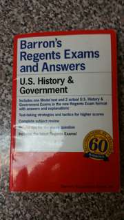 Barron Regents Exam and Answers US History Government Book