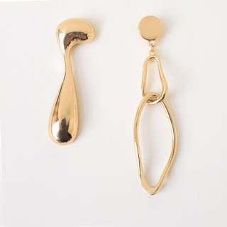 [全新] Another Story gold geometric earrings 金色溶解幾何耳環