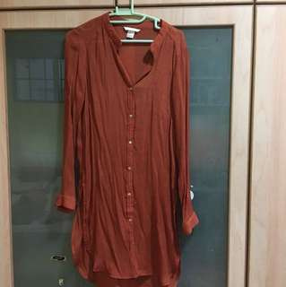 H&M mandarin collar tunic top