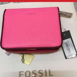 Fossil pink mini wallet