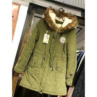 超暖 加厚 軍裝外套
