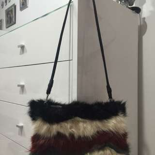 Zara Fur Clutch