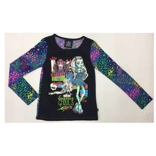 Leopard printed long sleeve monster high