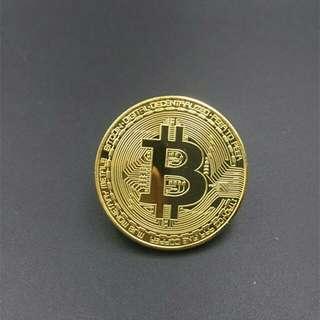 Bitcoin (with case) collectible commemorative coins