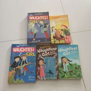 enid blyton the naughtiest girl books 2,3,7 and 8