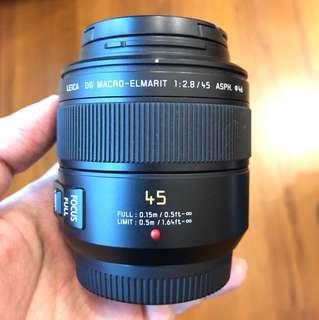 Panasonic - Leica 45mm f2.8 macro lens