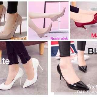 High Quality Glossy Closed High Heels