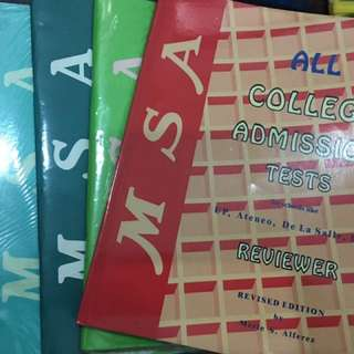 MSA College Admission Tests Reviewers (11 books)