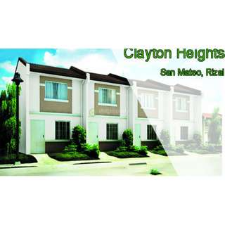 Townhouse For Sale CLAYTON HEIGHTS San Mateo Rizal