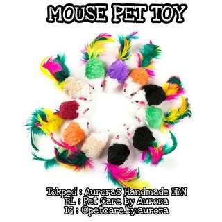 Mainan Kucing Anjing / Mouse Pet Toy / Tikus Mainan