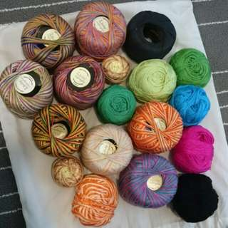 18pcs Surplus Crochet Yarn (mix of new and used)
