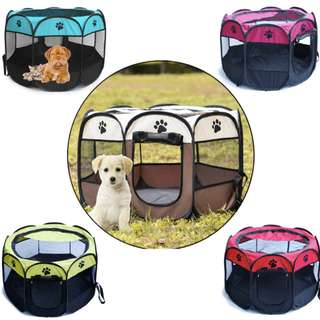 Pet Dog Cat Playpen Tent Portable Exercise Fence Kennel Cage Crate