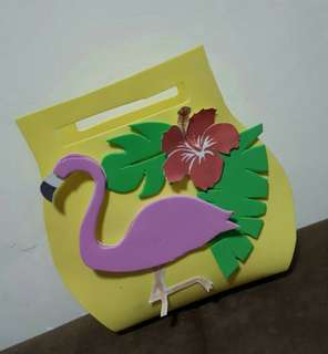 Party bag flamingo