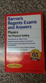 Barrons Regents Exams and Answers Physics The Physical Setting Book
