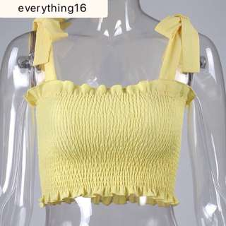 YELLOW Shirred / Textured Chiffon Camo Crop