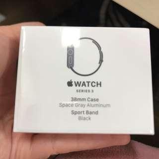 [全新未開盒] Apple Watch 38mm series 3 Black