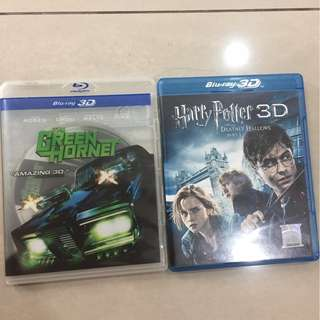 2 BLUE RAY 3D DVD
