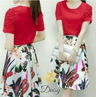 Dress red forest