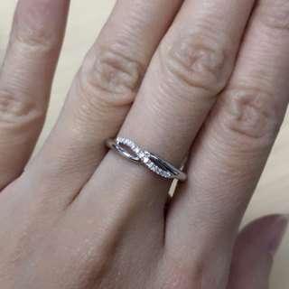 18K白鑽石戒指💍 18K Gold Diamond Ring