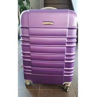 Australian Luggage Co Purple 4 wheel hardcase suitcase