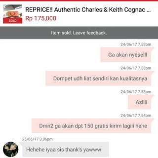 Testimoni customer Authentic Preloved Charles and Keith Wallet