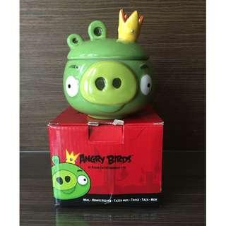 國王豬馬克杯(附蓋子)