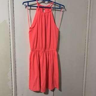 American Eagle Bright Orange Dress