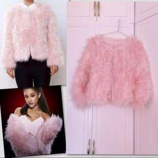 🆕🇰🇷Stylenanda pink fur cardigan jacket coat 粉紅羽毛外套 大褸