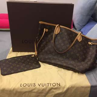 Louis Vuitton Neverfull Mono complete box and dustbag