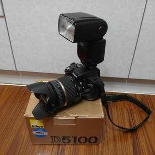【出售】Nikon D5100 數位單眼相機 盒裝完整 9成新