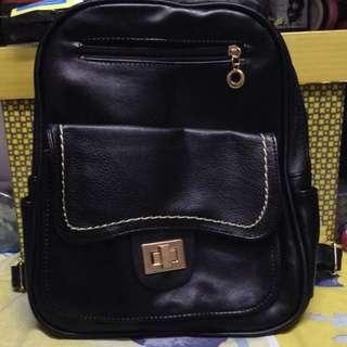 Black Elegant Backpack Bag