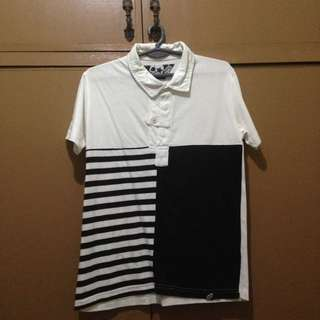 BUM BLACK AND WHITE POLO SHIRT
