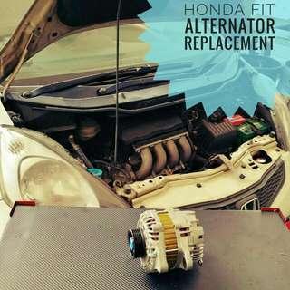 Honda Fit/Jazz GE8 : Alternator replacement.