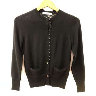 Sacai luck black with lace cardigan size 1